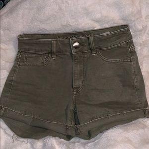 Super Stretch American Eagle Olive Jean Shorts
